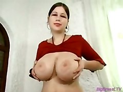 Huge Breasts Babe Dildoing Her Big Pussy For Orgasm