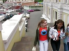 Russian Girls Make Him Happy And Cum