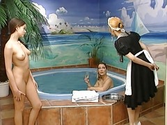 German Lesbian Action Very Hot, Whirlpool,dildo
